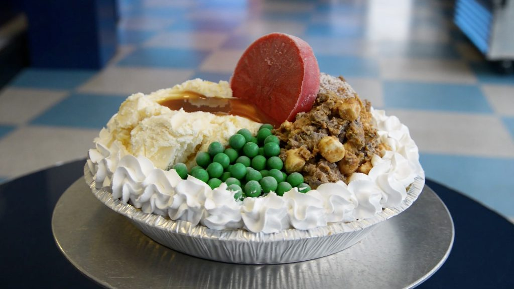 UConn Dairy Bar's popular turkey dinner ice cream pie