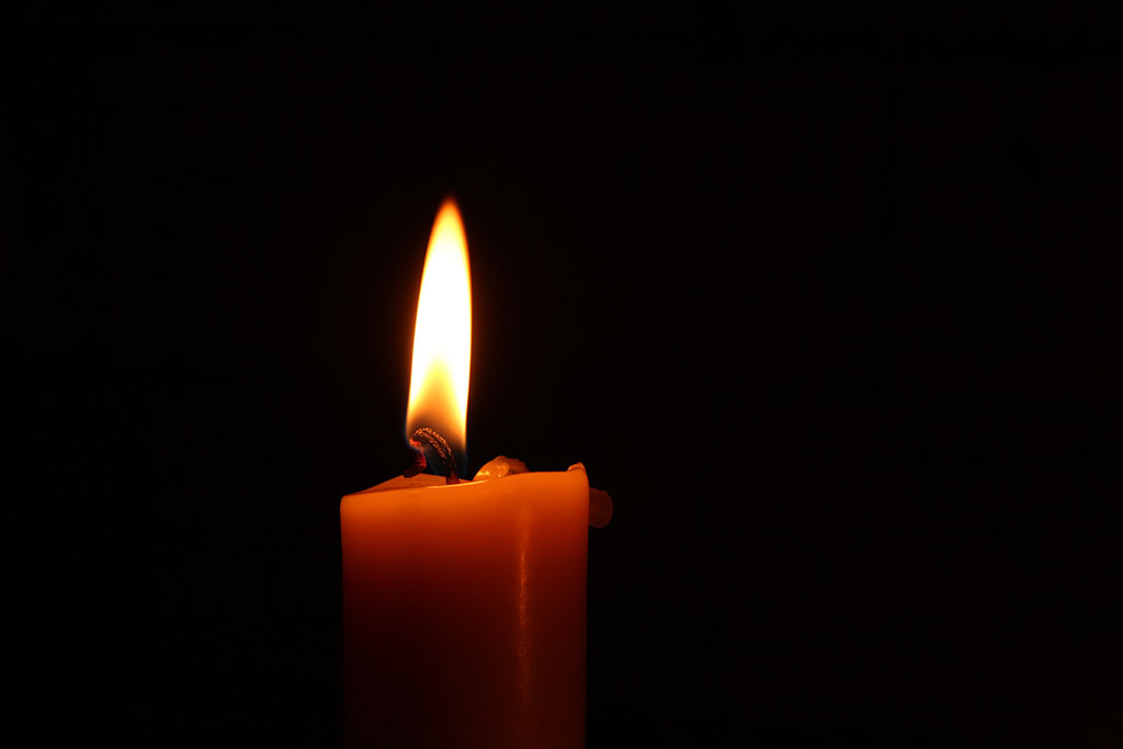 Candlelight with shadow background.