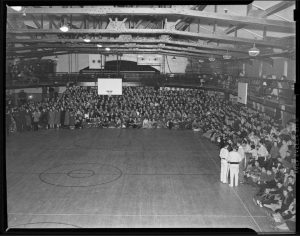A packed house inside Hawley Armory in 1940.