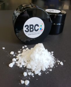 3BC product container with white powder isolate in front