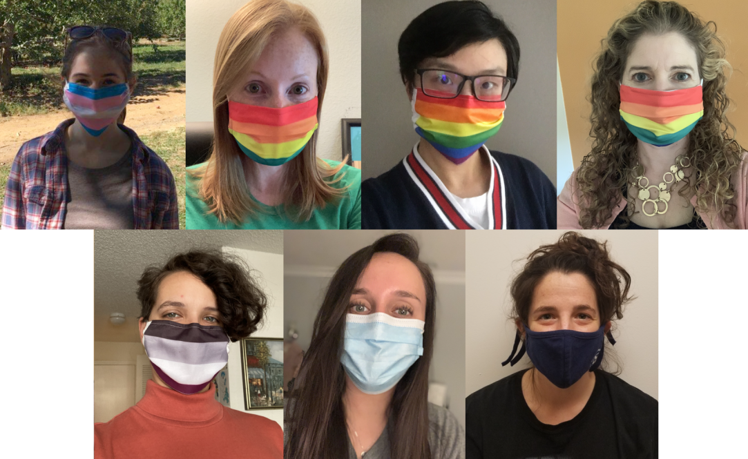 A photo collage of the researchers who worked on a study about how LGBTQ+ college students are faring during the pandemic.