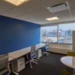 Inside the new UConn Technology Incubation Program workspace in Stamford (UConn Photo / Peter Morenus)