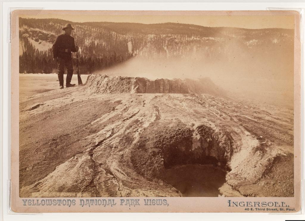 """Devil's Punch Bowl #129"" (1885-1890), albumen print by Truman Ward Ingersoll. Gift of Samuel Charters and Ann Charters."