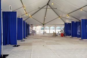 Emergency department pre-check screening tent