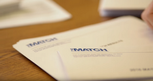 A closeup of Match Day envelopes, traditionally opened in person by medical students heading off to residency programs. This year, the ceremony was virtual, but the excitement was real.
