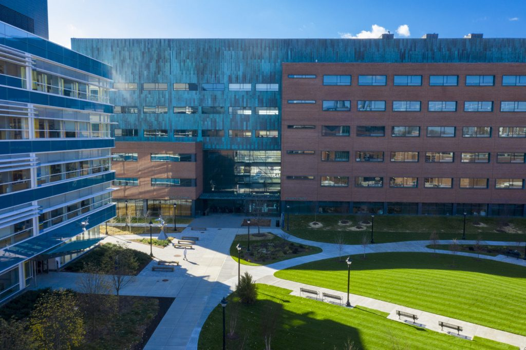 Aerial view of the UConn School of Pharmacy