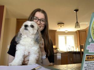 a writer and a dog
