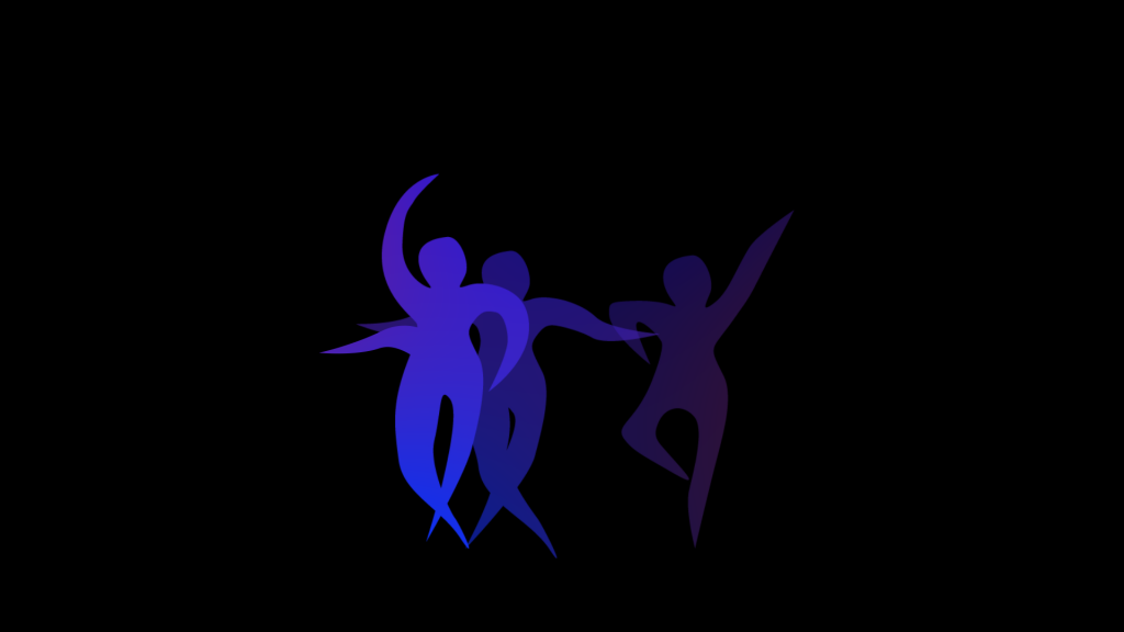 "A dancer's image from the animation of ""Prélude en Berceuse,"" the first movement of ""Au Gré Des Ondes (Along the Waves) "" composed by Henri Dutilleux. The music in the first movement was performed by Morgan Lee '22 SFA, a doctoral candidate in piano, and animated by Jonathan Goodrich '21 SFA."