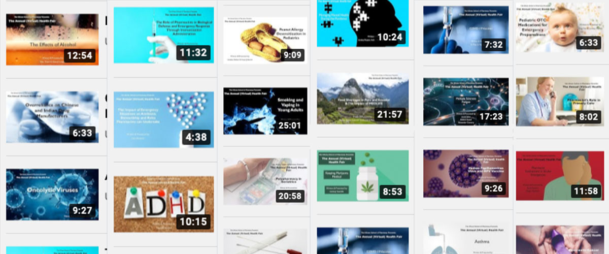 Graphic featuring cover slides from YouTube Videos