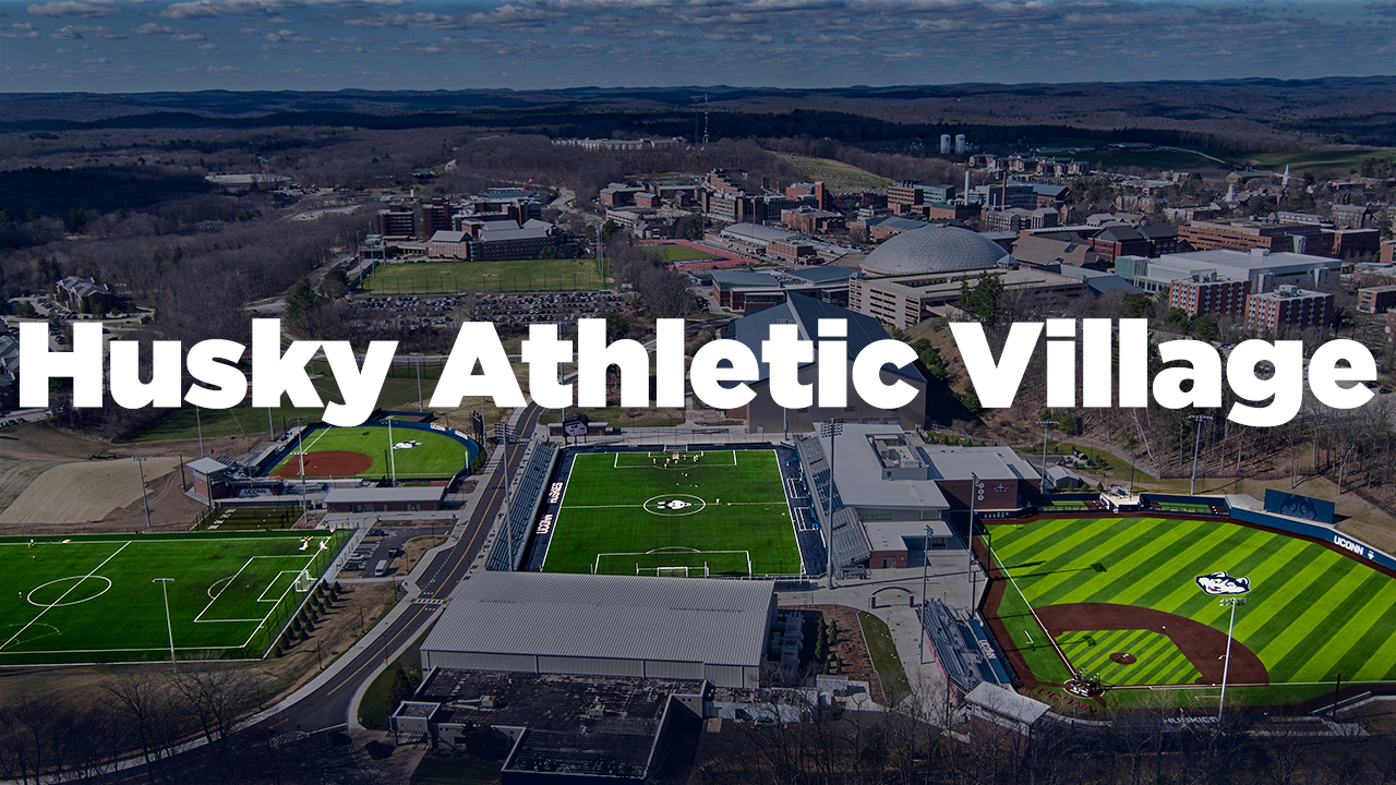 Aerial shot of Husky Athletic Village