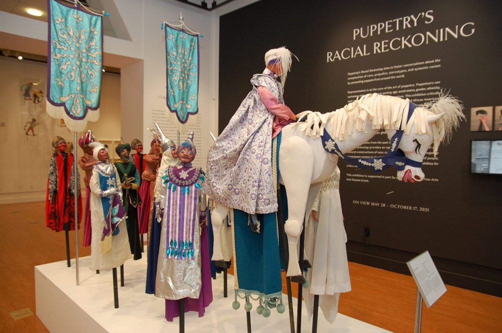 A new exhibit at the Ballard Institute and Museum of Puppetry demonstrates the medium's ability to address complex social issues.