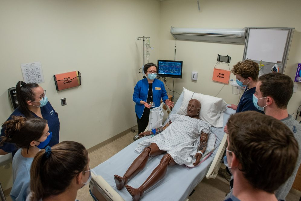 The School of Nursing's Clinical Simulation Learning Center offers students invaluable hands-on learning experiences - including challenging 'safe room' exercises.