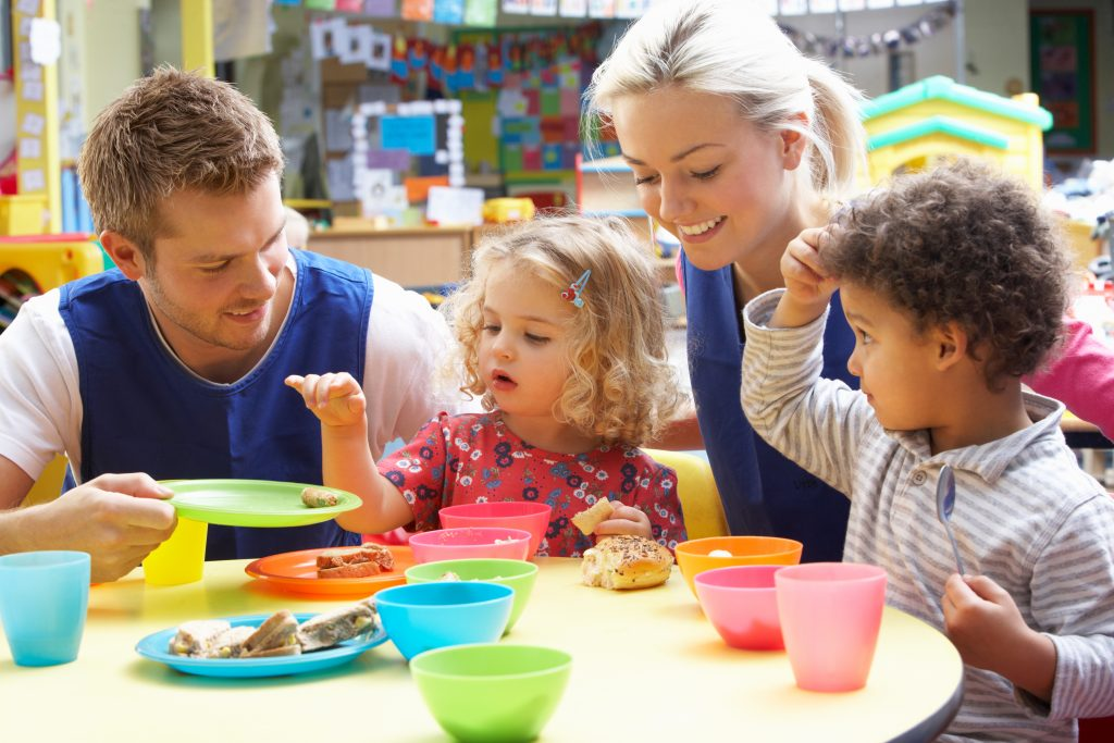 Centers that do not participate in CACFP are less likely to serve healthier options, such as nonfat or low-fat dairy and whole grains, and less likely to serve fruits and vegetables with meals.