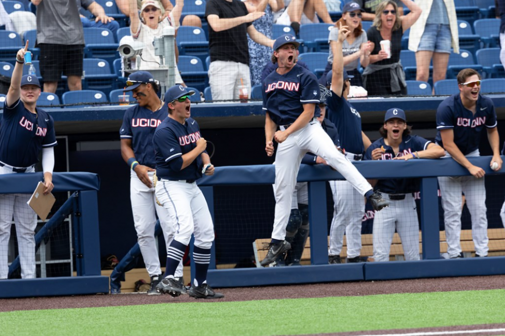 The UConn baseball team, seen here during a game against Seton Hall, will play in the NCAA tournament.