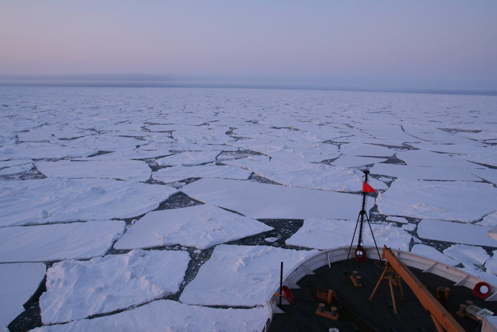 Study co-author Julie Granger sampled water from the Arctic Ocean aboard the US Coast Guard icebreaker Healy.