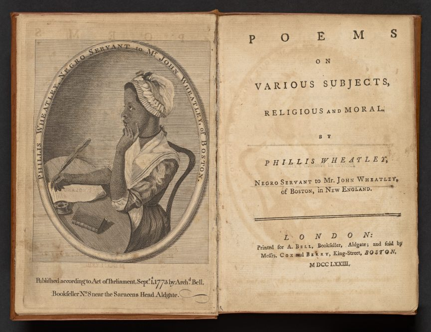 """A first edition of the book """"Poems on Various Subjects, Religious and Moral"""", by Phillis Wheatley. UConn historian Cornelia Dayton has unearthed documents that offer valuable insight into the poet's life."""