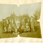 Members of the Class of 1898, together in the summer before their senior year began The original chemistry building at what was then Storrs Agricultural College, in 1898 (Department of Archives & Special Collections/UConn Library).