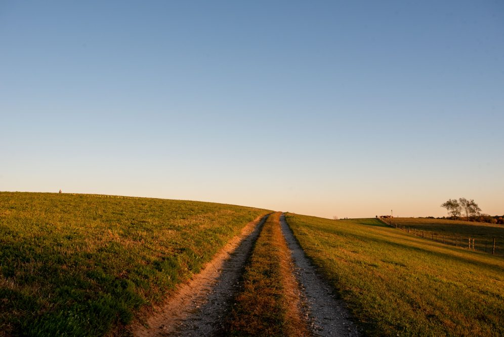 A view of Horsebarn Hill at sunset. An abundance of outdoor resources exists at UConn.