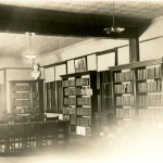 An undated photo of the original library at what is now UConn, which was located in the original building on campus, a former home for Civil War orphans (Department of Archives & Special Collections/UConn Library).
