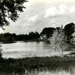 A view of Mirror Lake in 1922 (Department of Archives & Special Collections/UConn Library).