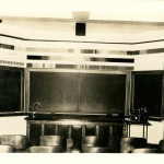 A physics classroom in an undated photo (Department of Archives & Special Collections/UConn Library).